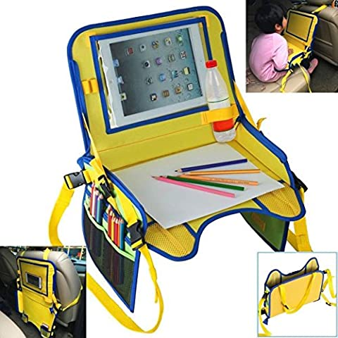 Auto pour bébé étanche Sécurité Assise Snack Play Plateau portable Table Kid Voyage et siège auto/sac de stockage et organiseurs