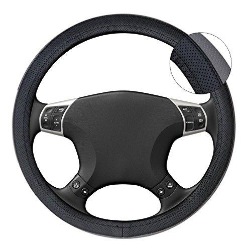 Akhan lb61–Coprivolante, colore nero grigio per tutti i tipi di volante 37cm–39cm