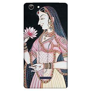 Bhishoom Designer Printed Back Case Cover for Micromax Canvas Selfie 3 Q348 (Beautiful Vintage Rani Painting)