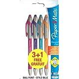 Flexgrip Elite Papermate Kugelschreiber, breit, 4 Stück. Türkis, Pink, Orange, Violett