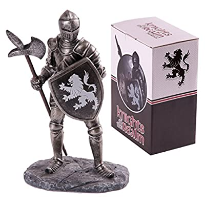 Knights Of The Realm Figurine Black Knight With Poleaxe These Fantasy Knight Princess And