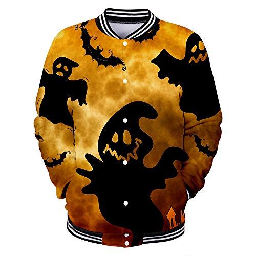 Hengye Technology Herren- und Damen-Sweatshirts, Baseball-Uniformen für Halloween-Piloten, schlanke, lässige Baseball-Uniformen aus 100% Polyester XL XXL,A,XL