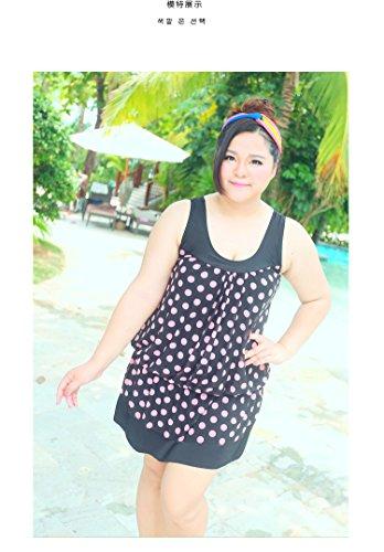 XL-übergewichtige Menschen kleiden einteilige Bikini-Badeanzug 4XL 08