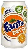 Fanta Zero refresco de Zumo de Naranja sin azúcar - 33 cl