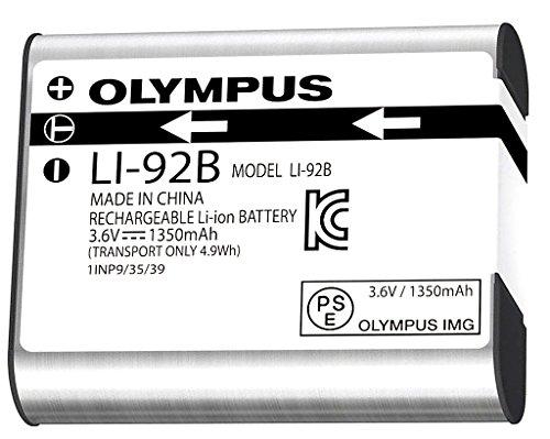 Olympus LI-92B 1350mAh 3,6 V LI-ION Batterie/Pile LI-ION Rechargeable (Appareil Photo numérique Argent TG-1 2-TG TG-3 XZ-1 XZ-2 -) & SP 100