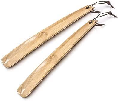 onebarleycorn –2pcs Long Chausse-Pied,Premium Extra à Manche Long Chausse-Pied en Bois pour Hommes, Femmes, Enfants, Bottes et Les Chaussures