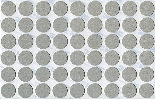 KwikCaps® PVC Aluminium Selbstklebende 3M Schrauben-Abdeckungen Abdeckkappen Nägel Cam flach [54 Stk. x 20 mm Durchmesser]