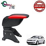 #6: myTVS TAR-16 Car Designer Armrest with Slider-Black & Red for Volkswagen Polo