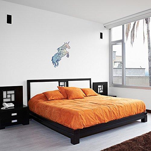 Calligraphy Unicorn Vinyl Wall Art Sticker / Vinile da Parete / Adesivi per la Casa