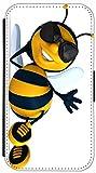 Flip Cover für Samsung Galaxy S3 i9300 / S3 Neo i9301 Design K579 Biene Schwarz Gelb Cartoon Funny Hülle aus Kunst-Leder Handytasche Etui Schutzhülle Case Wallet Buchflip Vorderseite Bedruckt mit Bild Rückseite Schwarz (579)