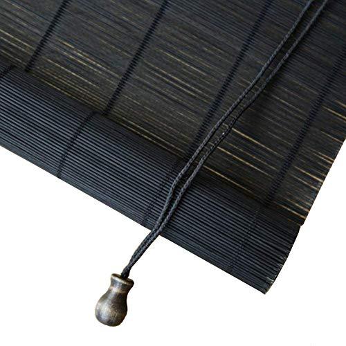 Bambus-römische Sonnenschirme, ausgezeichnete Jalousien für Teehaus, Restaurant, Garten, Bambus-Rollos, Sonnenschutzrollo, ZHANGAIZHEN (Farbe : Schwarz, größe : 70 * 90cm) (Für Jalousien Restaurants)