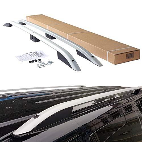 BREMER SITZBEZÜGE VW Caddy Aluminium Dachreling Dachgepäckträger ab BJ 2011-2019 Farbe: Matt Silver