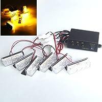 Emergencia Advertencia de peligro rejilla Grill Luz Estroboscópica luces 12V 18ámbar LED/6luz cabeza