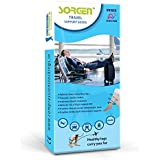 Sorgen Travel Support Socks relieves tired and aching legs, pain and swellings, prevents flight-related DVT and edema- A MUST have in your travel kit. (Xlarge)