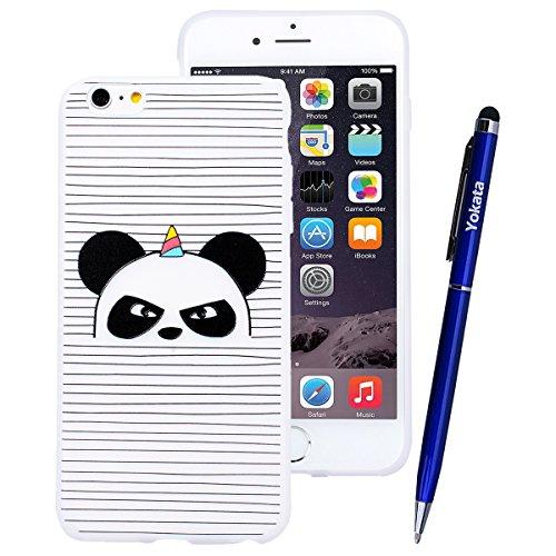 Yokata iPhone SE / iPhone 5 / iPhone 5s Hülle Transparent Weiche Silikon Handyhülle Schutzhülle TPU Handy Tasche Schale Etui Weich Silicone Durchsichtig Bumper Ultra Dünn Slim Schlank Handytasche Prem Panda