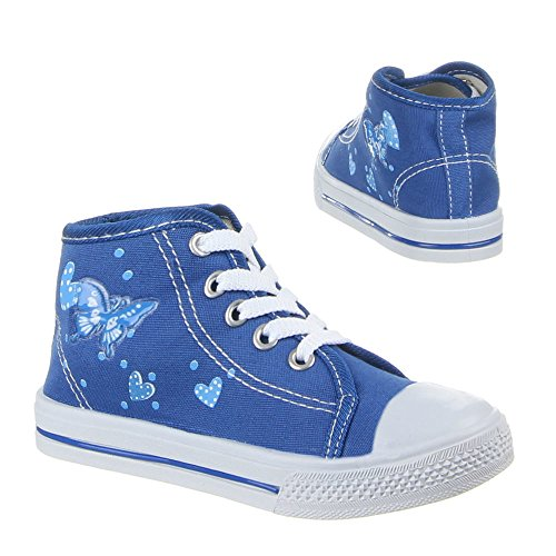 Kinder Schuhe, 710A, FREIZEITSCHUHE Blau (30-35)