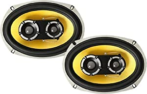"Vibe Audio BA69 BlackAir 69 6x9"" inch 3-Way 525w 525 Watts Car Rear Parcel Shelf Coaxial Speakers - Pair"