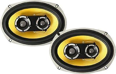 "Vibe Audio BA69 BlackAir 69 6x9"" inch 3-Way 525w 525 Watts Car Rear Parcel Shelf Coaxial Speakers - Pair"
