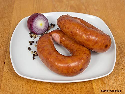Kohlwurst/Bregenwurst geräuchert im Ring 2 Packungen 2x160g - Mettwurst für den deftigen Eintopf -...