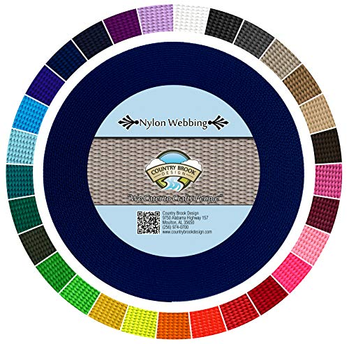 Country Brook Design 2,5cm Royal Blau Heavy Nylon Gurtband, 50Meter -