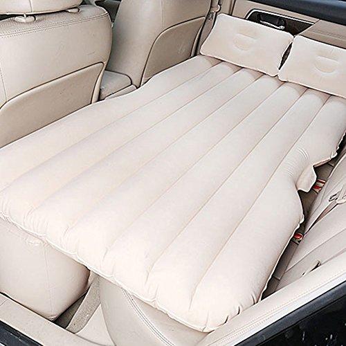 Luftmatratzen Auto Camping-Reise-aufblasbare Matratze Portable Thicker-Sex-Bett Mit Elektrischer Pumpe Und Kissen, Beige