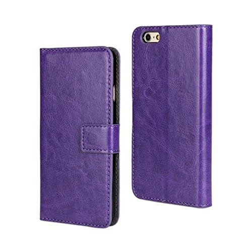 Coque de protection Coque Cover Étui à rabat Housse de protection étui pour Apple iPhone 6S Bag lilas