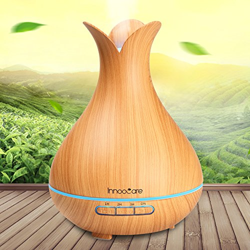 Aroma Diffuser 300ml InnooCare Essential Oil Atomizer Ultrasonic Aromatherapy Wood Grain Humidifier for Fresh Air, Home Decoration, Best Gifts for Dry Skin, Insomnia