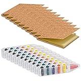 10Sets de coloriage et 10blocs de lettres Stickers. Pack de 20pièces à Colorier. Idéal pour cadeaux de fête d'anniversaire....