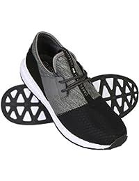 Hombre / Negro Hombre/gris Crosshatch Divergence Zapatillas/Zapatillas - Negro / gris medio - GB Tallas 7-12