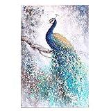 Comfot Ölgemälde Handgemalt - Wand Leinwand Bild-Peacock/Fantasy Moderne Leinwand Rahmenlose Druck 50 × 70Cm