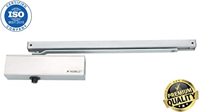 MADHULI® R-World® Hydraulic Sliding Arm Door Closer Heavy Duty Aluminum Hydraulic Door Closer Pelmet/Parallel Arm Door Closer (Any Degree Hold Open Function with multi Speed Controling) 1-Year PC To PC