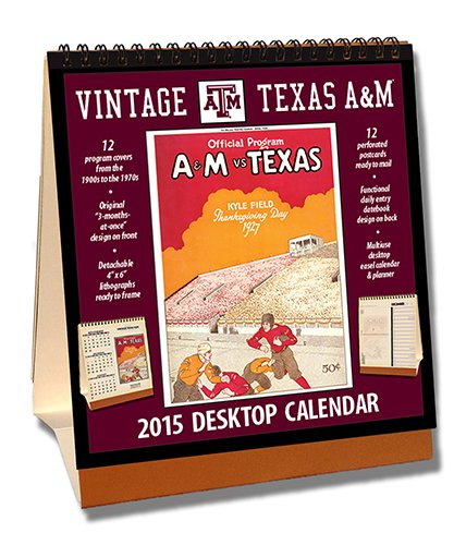 Texas A&M Aggies 2015 Easel Desktop Vintage Football Calendar - Desktop-kalender-easel