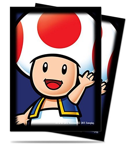 65 Ultra Pro Super Mario Brothers TOAD Deck Protectors Sleeves Standard Size MTG by Super Mario Toad Deck Protector Sleeves 65ct Ultra Pro
