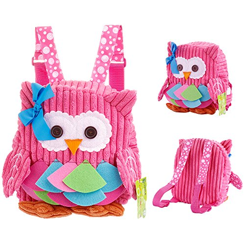 Babyrucksack BWei kinderrucksack mädchen kindergarten Rosa Backpack Schultasche für 1-7Jahre Mädchen,für Schule,eule auswahlbar (Schulter Ergonomische Riemen)