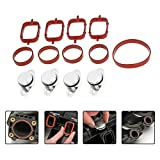 KKmoon XHD2934528290575IV 4 Pcs 22Mm Diesel Swirl Flap Blanks Replacement Bungs with Intake Manifold Gaskets