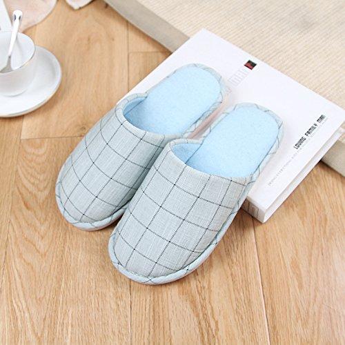 DogHaccd pantofole,In autunno e in inverno gli amanti di Baotou indoor anti-slip di cotone home pantofole, il Giappone e la Rok griglia pantofole di moda Verde di latte1