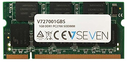V7 V727001GBS Notebook DDR1 SO-DIMM Arbeitsspeicher 1GB (333MHZ, CL2.5, PC2700, 200pin, 2.5 Volt) (Cl2.5 Notebook)