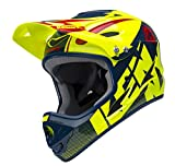 KENNY Downhill Casque Mixte Adulte, Jaune Fluo/Marine, Taille L