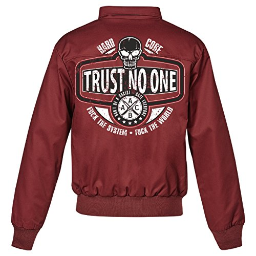 Uomini e uomo giacca Harrington La Familia-Trust No One (con retro stampa) rosso vivo XXXXXL