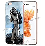 Blitz® Jedi Star Wars Schutz Hülle Transparent TPU Cartoon Comic iPhone  M6 iPhone 6 6s