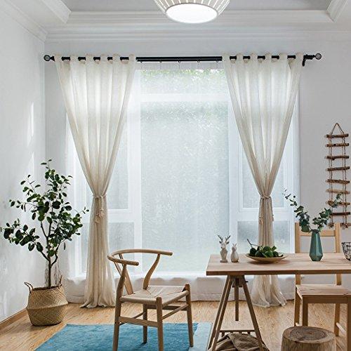 Vorhänge Met Love Hauptfarbe Hanf Garn Leinen Bildschirm Garn gefärbt Garn Engineering Garn Wohnzimmer Schlafzimmer Studie Balkon Spezielle Bildschirme 2 Panels (größe : L:2.0*H:2.7m) -