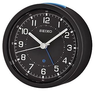 Seiko QHE096D, Orologio Analogico in Plastica, Nero (Schwarz)