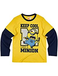 Minions Despicable Me Chicos Camiseta mangas largas - Amarillo