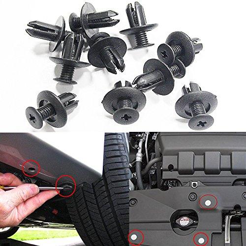 Muchkey Clip de garniture de voiture Clips de pare-chocs avant Rivets en plastique Panneau de fixation de pare-chocs Rivet Push Type Clip de retenue 8.5mm 50Pcs