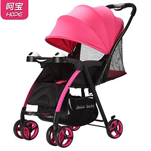 WHUI Baby Drücker Leichte Falten Baby Warenkorb Sie Sitzen Und Liegen Kinderwagen, Sky Blue - Sommer Net (Vision Landschaft Beleuchtung)