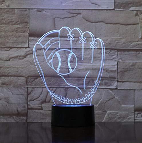 Joplc Neuheit Softball Mitt Nachtlicht LED Lampe Stimmung 3D Baseball Handschuh Schlafzimmer Dekor Beleuchtung Kind Kinder Geschenke