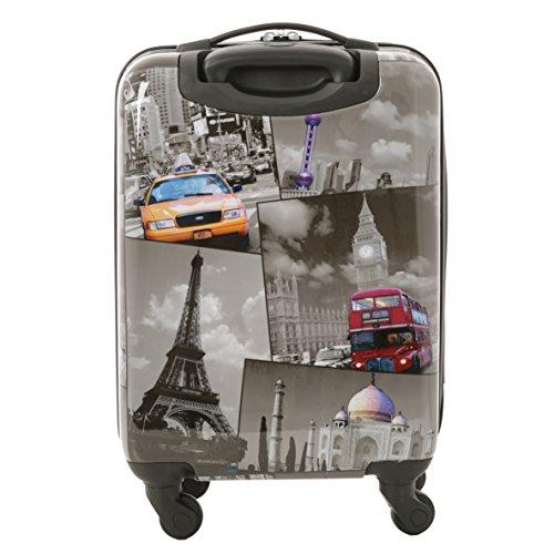 5 Cities Bagage Cabine Bagage à Main Valise Polycarbonate Rigide à 4 Roulettes , Approuvées pour Ryanair , Easyjet , Air France , Lufthansa , Jet2 et ...