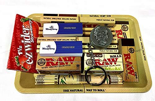 0er Mini Metall Rolling Tablett New Deal Geschenk für sie oder Ihre Lieben mit e-zwider Booklet Strawberry von Trendz ()