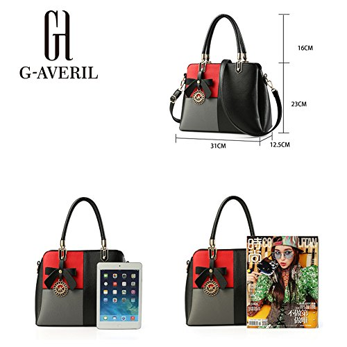 G-AVERIL, Borsa a mano donna Nero Black Pink