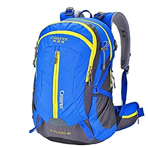 51sUcFhE8fL. SS300  - Backpack LIGHTING Mountaineering bag/waterproof outdoor hiking/camping package-blue 50L